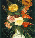 Vase with asterssalvia and others flowers