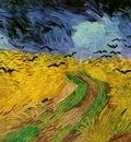 Wheat Field Under Threatening Skies