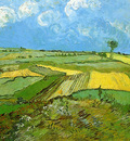 wheat fields at auvers under a cloudy sky