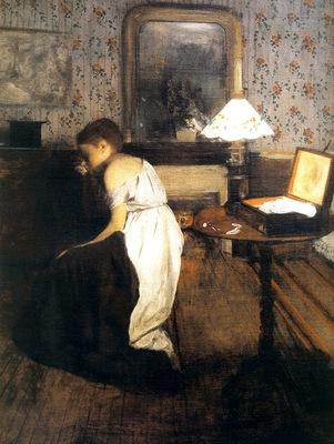 1869 Edgar Degas Le Viol detail la domestique