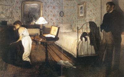 1869 Edgar Degas Le Viol