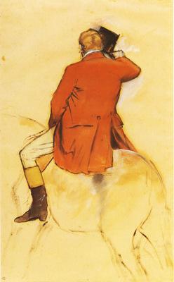 Cavalier en Habit rouge Pinceau et lavis sepia 436x276 cm Paris musee du Louvre