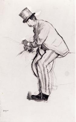 Jockey amateur Dessin Pinceau et encre de Chine x4428 cm ctai