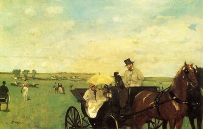 Aux courses en provunce la Voiture au course Huile sur Toile 365x559 cm Boston Museum of Fine Art