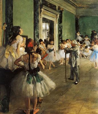La Classe de Danse Huile sur Toile 85x75 cm Paris musee d Orsay