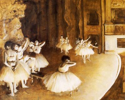 Repettition d un ballet sur la scene Huile sur Toile x6581 cm Paris musee d Orsay