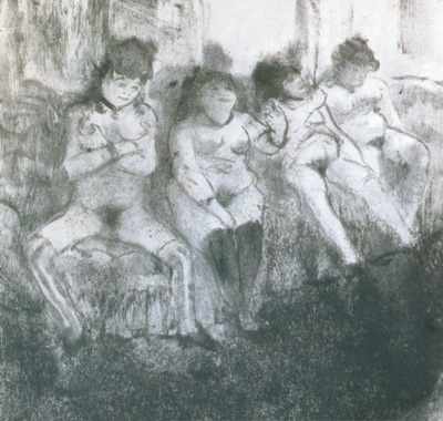 1877 Degas Edgar Attente seconde version Make an attempt second version