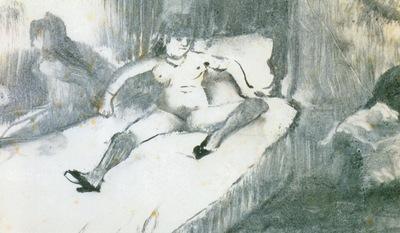 1877 Degas Edgar Repos sur le lit Rest on the bed