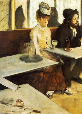 Au Cafe ou l Absinthe Huile sur Toile 92x68 cm Paris musee d Orsay