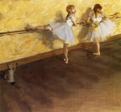 Danseuses a la barre Huile sur Toile 756x813 cm New York The Metropolitan Museum of Art