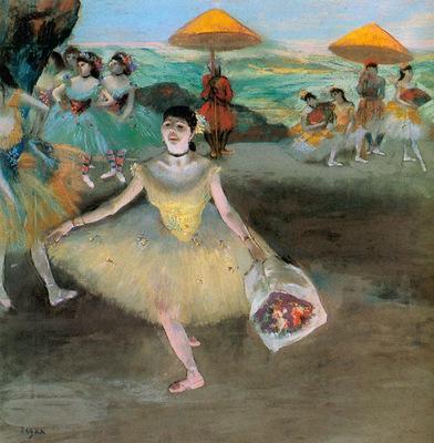 La Danseuse au bouquet saluant