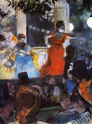 Le Cafe concert des Ambassadeurs Pastel sur monotype Lyon Musee des Beaux Arts
