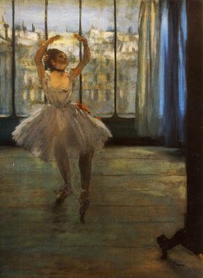 Danseuse posant chez un photographe Huile sur Toile x6550 cm Moscou Musee Pouchkine