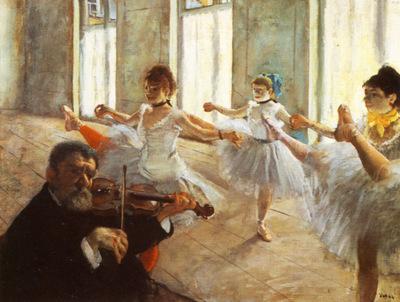 Ecole de dans repetition de danse Huile sur Toile 47x61 cm New York the Frick Collection