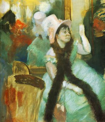 Portrait apres un bal costume mme Dietz Monnin Gouache pastel fusain 855x75 cm ctai