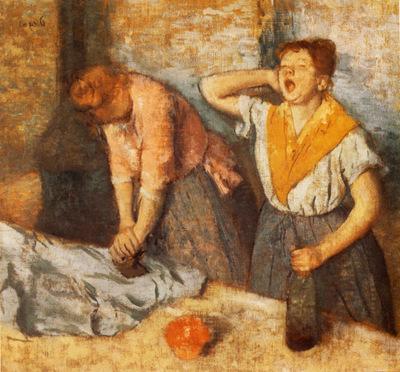 Les Repasseuses Huile sur Toile 76x815 cm Paris musee d Orsay