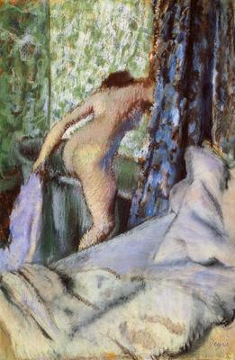Le Bain le bain matinal Papier sur papier verge 705x432 cm Chicago art Institute