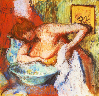 La Toilette Pastel 60x61 cm Ancienne Collection Florence Gould