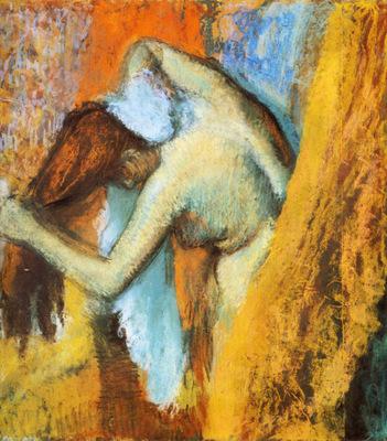 Femme s essuyant detail