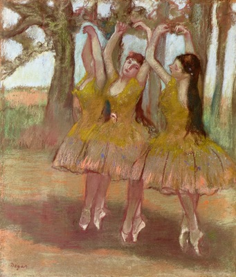 A Grecian Dance 1885 1890 Private collection Drawing pastel