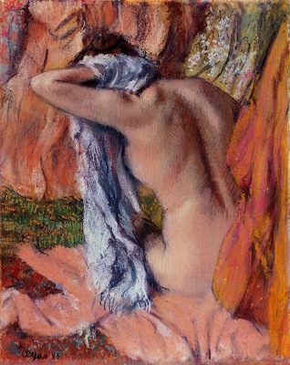 After the Bath circa 1890 1893 Norton Simon Museum United States Drawing pastel