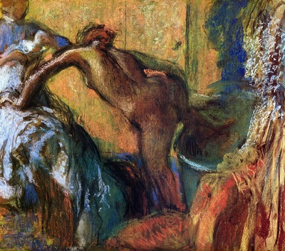 After the Bath circa 1895 1898 The Phillips Collection United States Drawing pastel