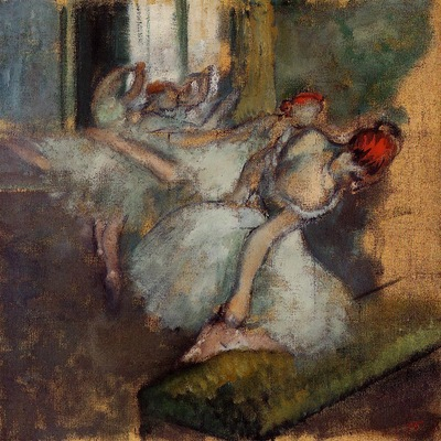Ballet Dancers circa 1895 1900 National Gallery London England oil on canvas