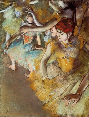 Ballet Dancers on the Stage 1883 Dallas pastel