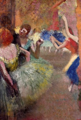 Ballet Scene circa 1885 Private collection oil on canvas