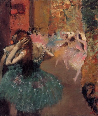 Ballet Scene circa 1893 Private collection oil on canvas