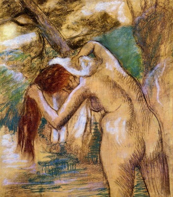 Bather by the Water circa 1903 Private collection pastel