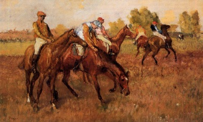 Before the Race 1882 1884 Private collection oil on panel