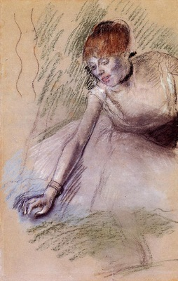 Bowing Dancer circa 1880 1885 Private collection pastel
