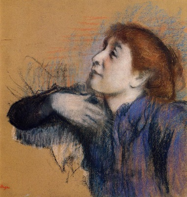 Bust of a Woman circa 1880 1885 Private collection pastel