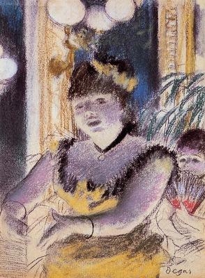 Cafe Concert Singer circa 1879 Norton Simon Museum USA pastel