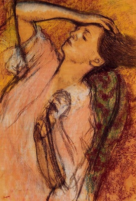 Combing the Hair circa 1892 1895 Private collection pastel