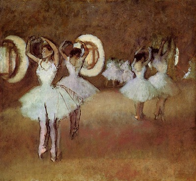 Dance Rehearsal in the Studio of the Opera 1895 Norton Simon Museum USA oil on canvas