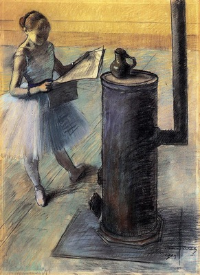 Dancer Resting circa 1879 1880 Private collection pastel