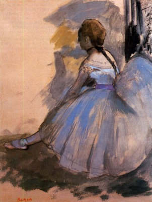 Dancer Seated study 1872 Private collection pencil
