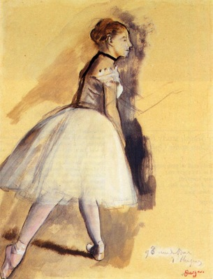 Dancer Standing study 1872 PC