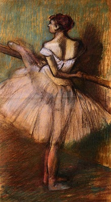 Dancer at the Barre circa 1884 1888 Private collection pastel