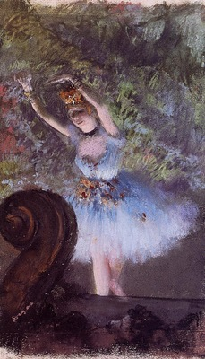 Dancer circa 1877 1878 Private collection pastel