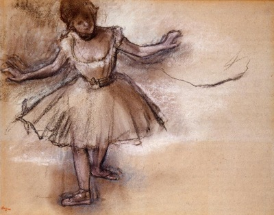 Dancer circa 1877 Private collection pastel