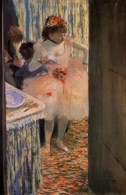 Dancer in Her Dressing Room circa 1880 Oskar Reinhart Collection Switzerland pencil