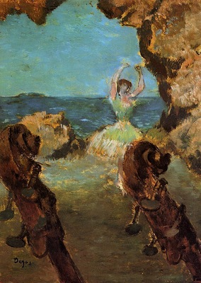 Dancer on Stage circa 1890 Hamburger Kunsthalle Germany oil on canvas