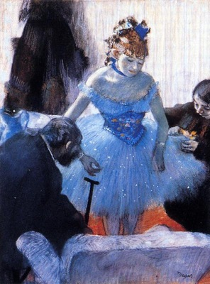 Dancer s Dressing Room circa 1878 Private collection pastel
