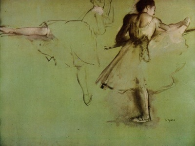 Dancers at the Barre study circa 1873 British Museum England oil on canvas