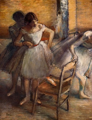 Dancers circa 1895 1900 Private collection oil on canvas