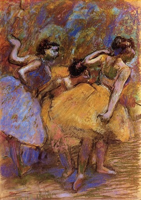 Dancers circa 1900 Memorial Art Gallery of the University of Rochester USA pastel
