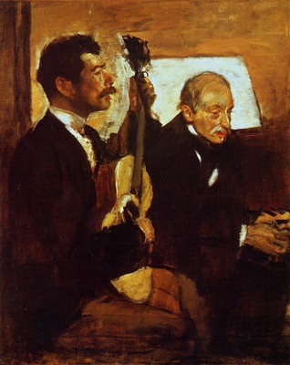 Degas Father Listening to Lorenzo Pagans 1869 1870 Museum of Fine Arts USA